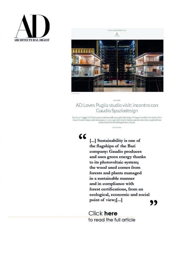 Gaudio Spazio Design - Press - Architectural Digest