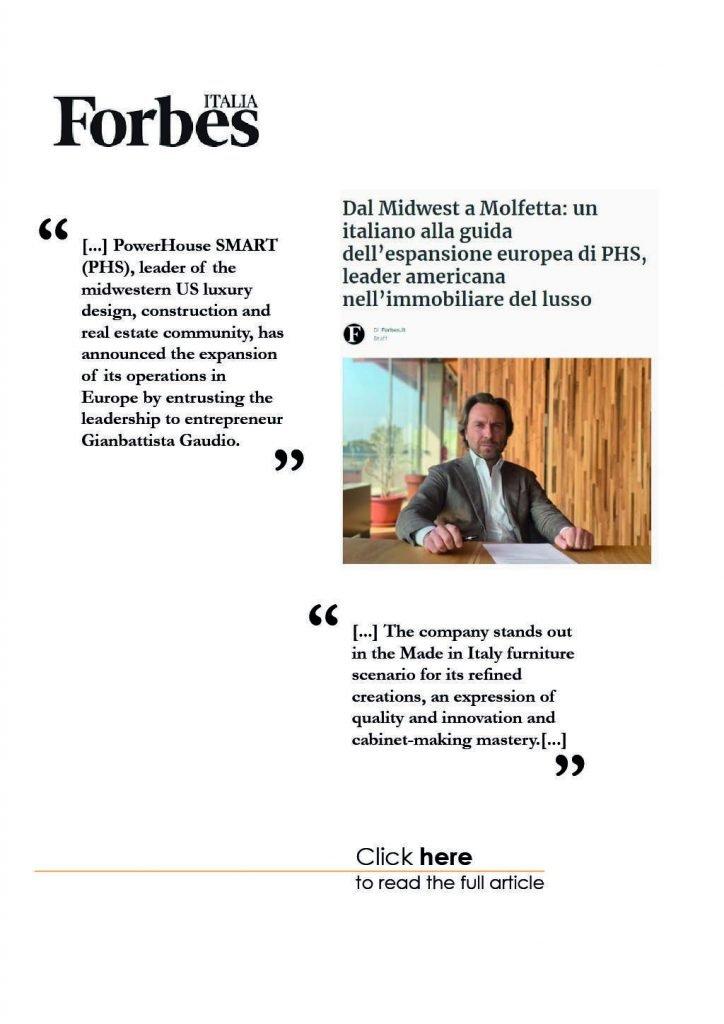 Gaudio Spazio Design - Press - Forbes Italia