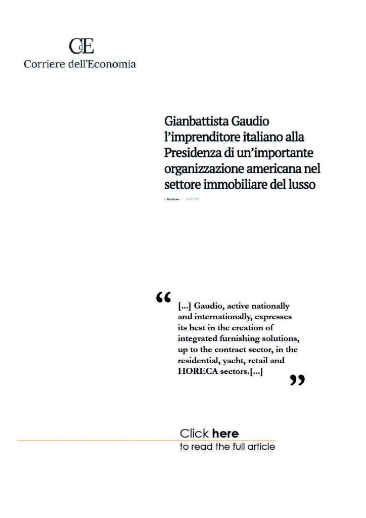 Gaudio Spazio Design - Press - Corriere dell'Economia