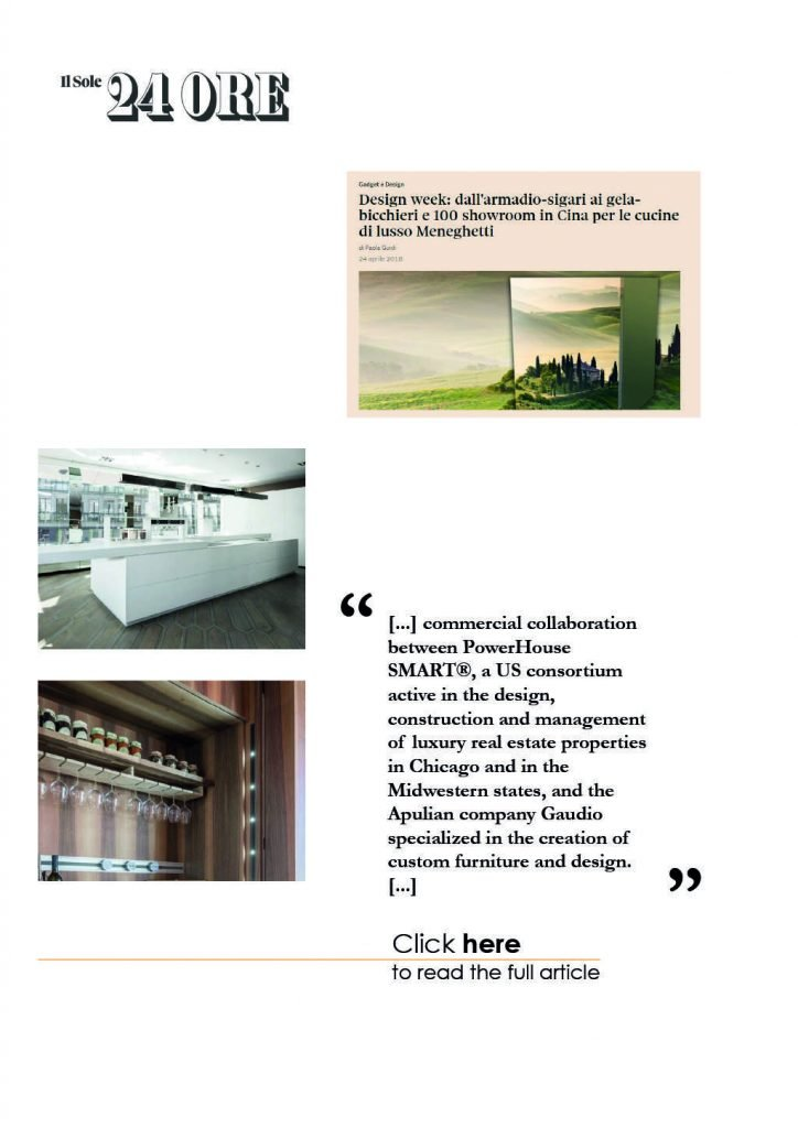 Gaudio Spazio Design - Press - Il SOLE 24 ORE
